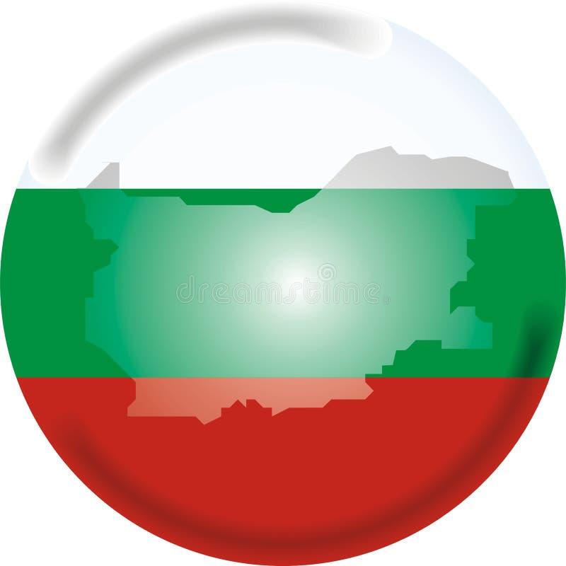 De kaart en de vlag van Bulgarije stock illustratie