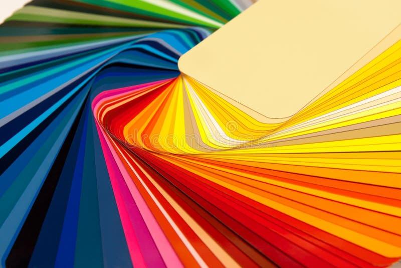De kaart RAL van de kleur royalty-vrije stock afbeeldingen
