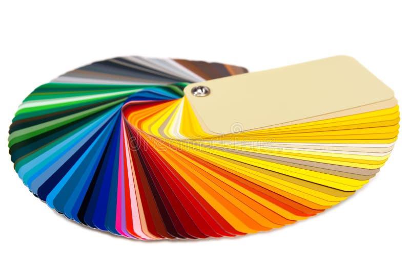 De kaart RAL van de kleur stock afbeelding