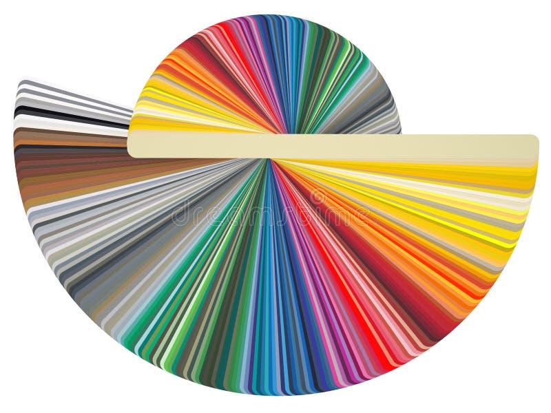 De kaart RAL van de kleur stock illustratie