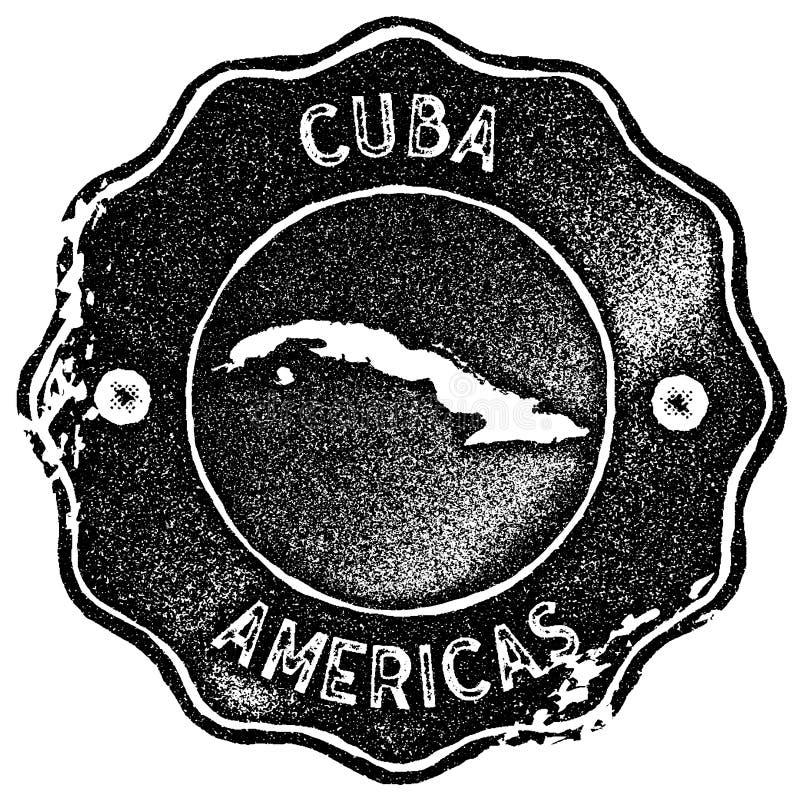 De kaart uitstekende zegel van Cuba vector illustratie