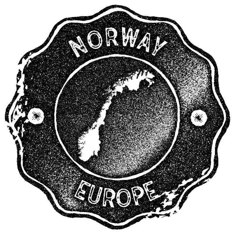 De kaart uitstekende zegel van Noorwegen royalty-vrije illustratie