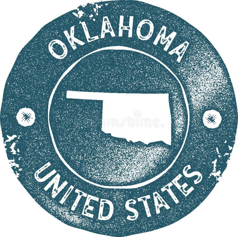 De kaart uitstekende zegel van Oklahoma vector illustratie