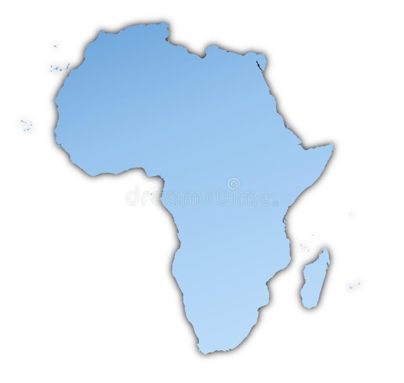 De kaart van Afrika royalty-vrije illustratie