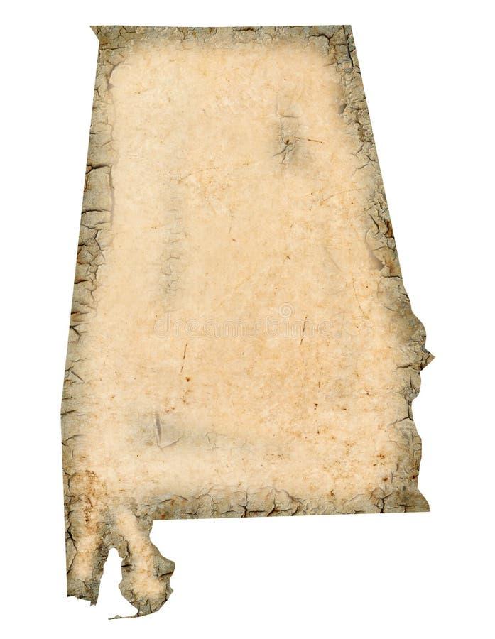De Kaart van Alabama stock illustratie