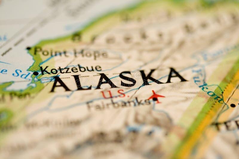 De Kaart van Alaska stock afbeelding