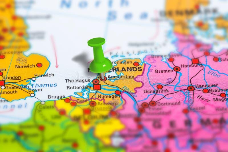 De kaart van Amsterdam Nederland stock foto's