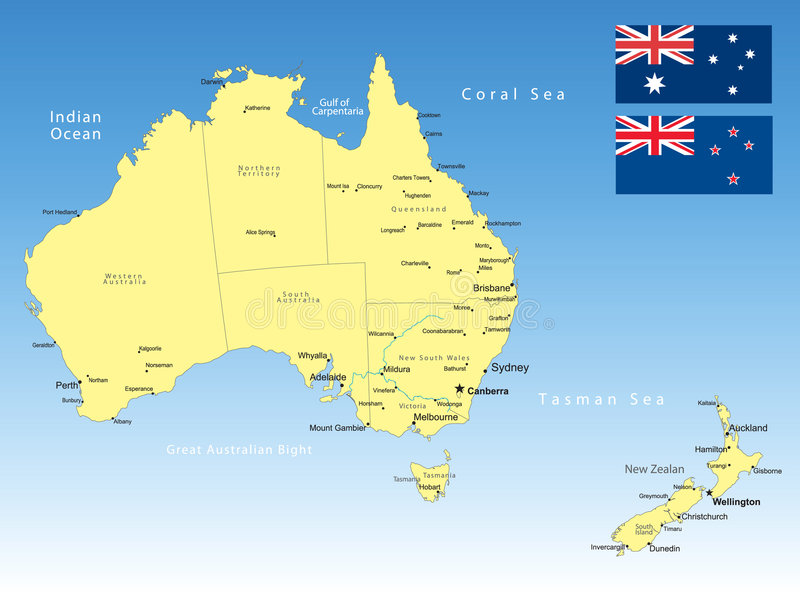 De kaart van Australië royalty-vrije illustratie