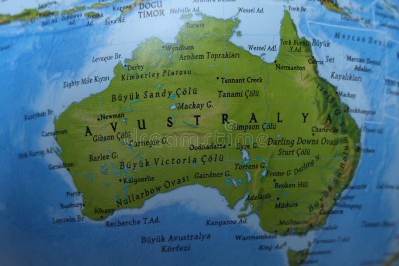 De kaart van Australi? stock afbeelding