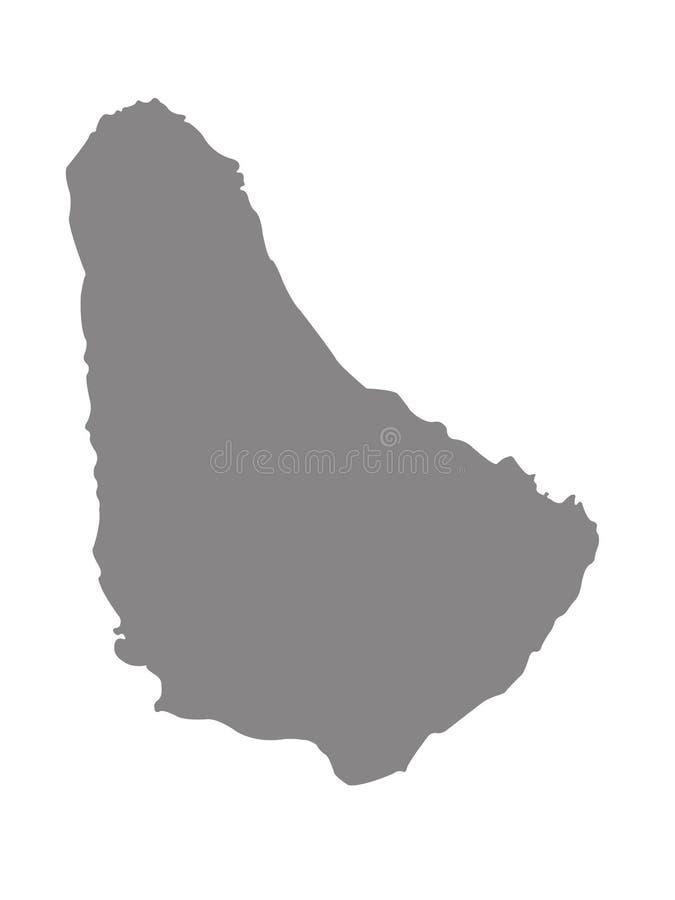 De kaart van Barbados - eilandland in het Cara?bische gebied van Noord-Amerika stock illustratie