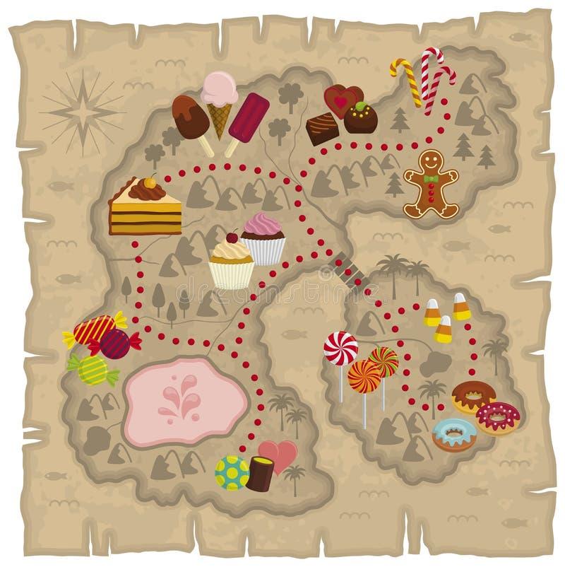 De kaart van Candyland royalty-vrije illustratie