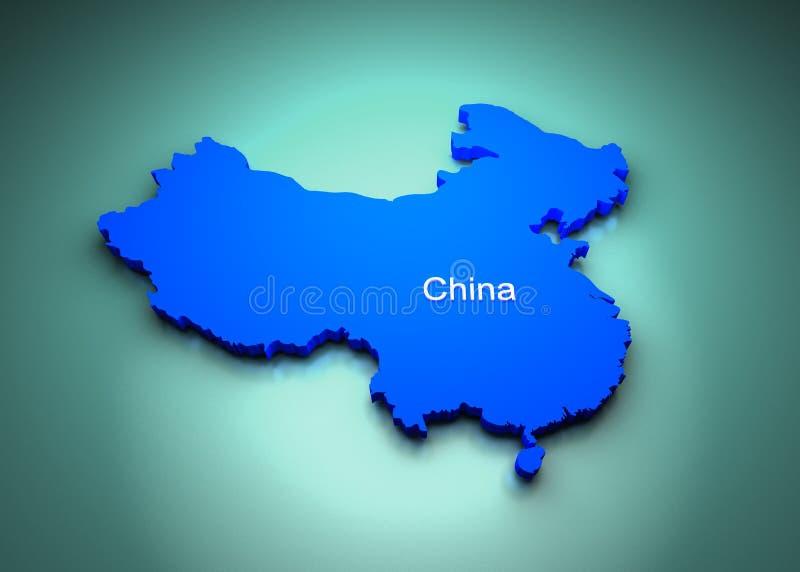 De Kaart van China vector illustratie