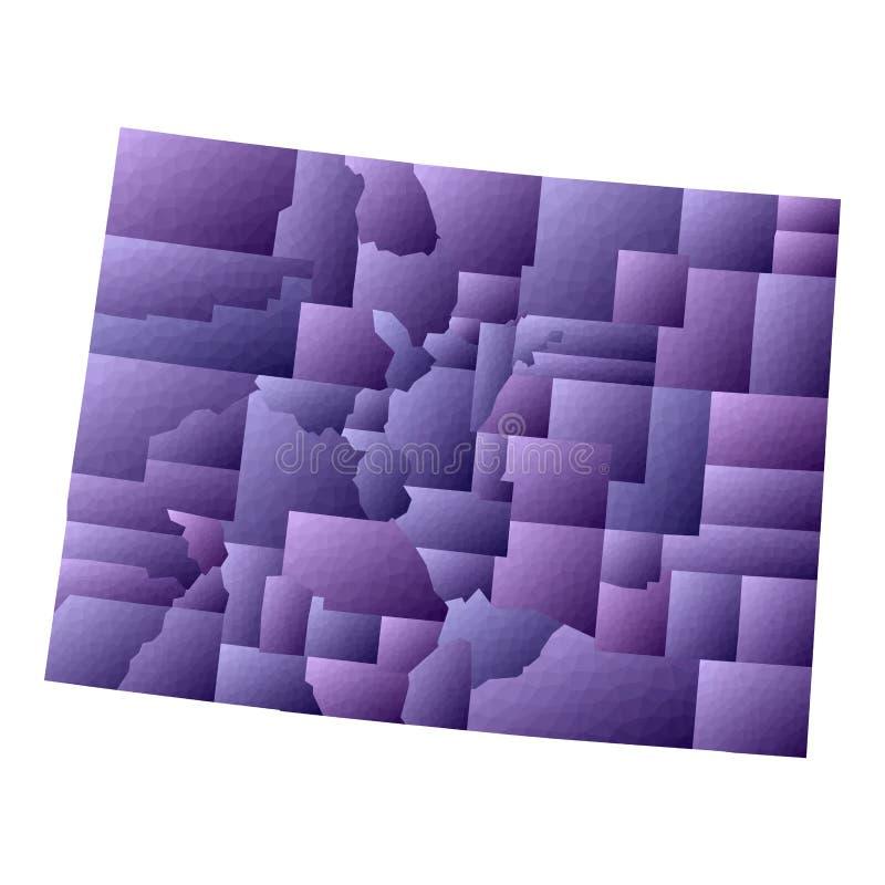 De kaart van Colorado vector illustratie