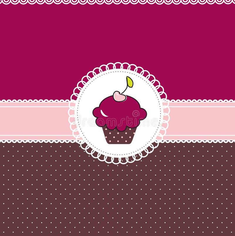 De kaart van Cupcake vector illustratie