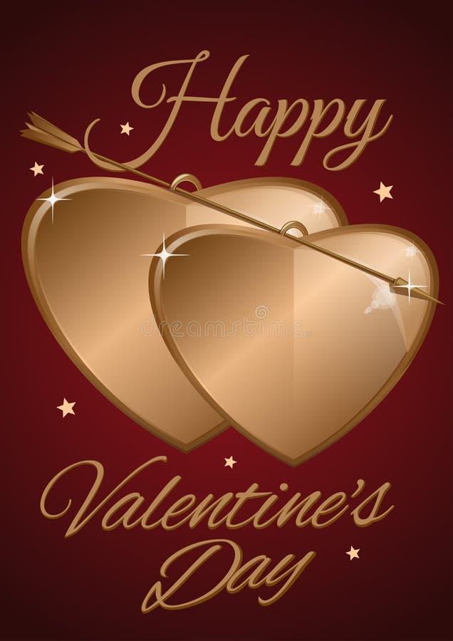 De kaart van de Dag van valentijnskaarten vector illustratie