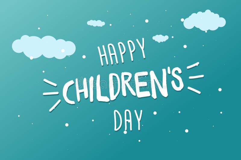 De kaart van de de Daggroet van gelukkige Kinderen, banner of affiche 1 juni-het ontwerp van de de vakantiegebeurtenis van de wer vector illustratie