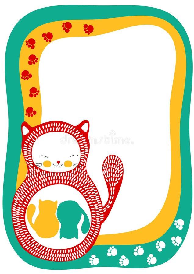 Download De Kaart Van De Aankondiging Van De Zwangerschap Met TweelingKatten Stock Illustratie - Illustratie bestaande uit mooi, dier: 29503483