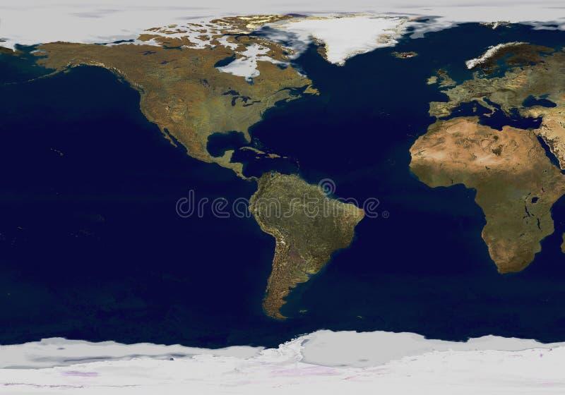 De kaart van de aarde royalty-vrije illustratie