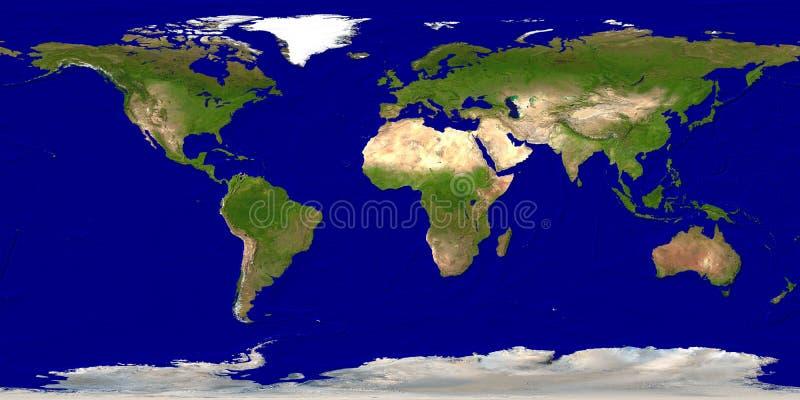 De kaart van de aarde vector illustratie