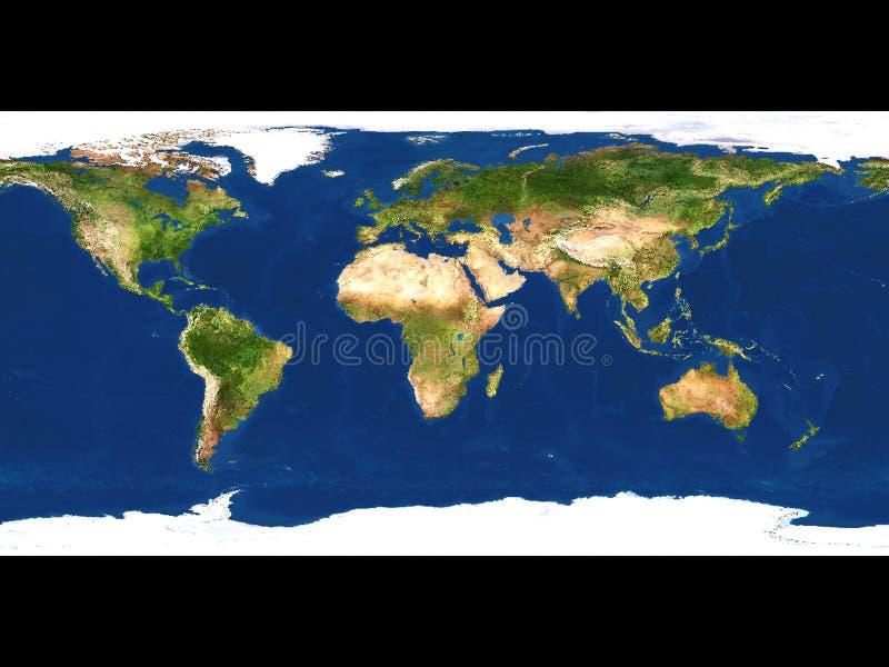 Download De kaart van de aarde stock illustratie. Illustratie bestaande uit aarde - 34528