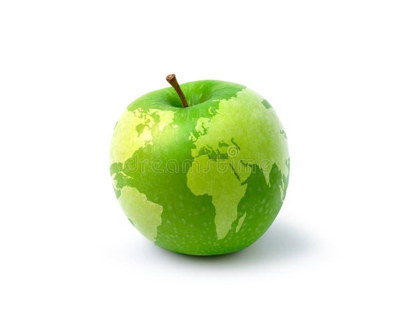 De kaart van de appel royalty-vrije stock afbeeldingen