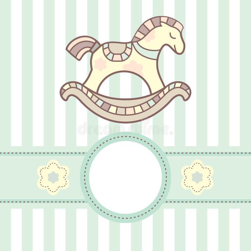 De kaart van de baby stock illustratie