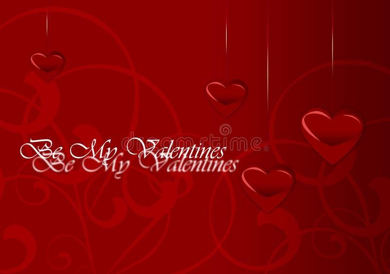 De Kaart van de Dag van de elegante Valentijnskaart royalty-vrije stock afbeeldingen