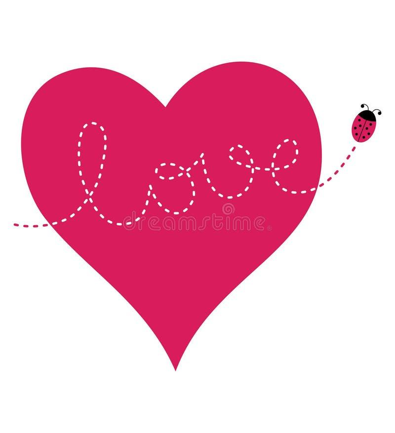 De kaart van de Dag van de valentijnskaart royalty-vrije illustratie