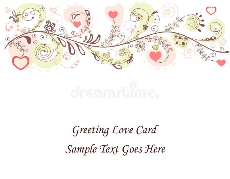 De Kaart van de Dag van de valentijnskaart vector illustratie