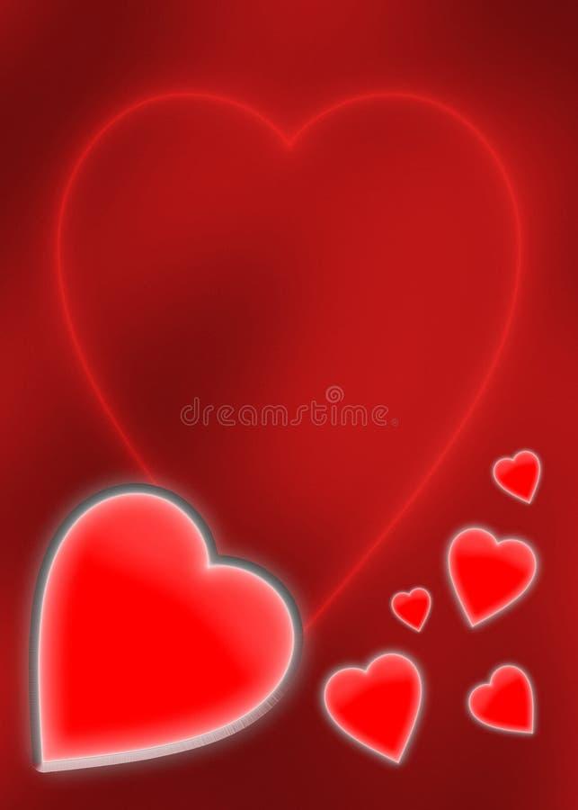 De Kaart van de Dag van de valentijnskaart stock illustratie