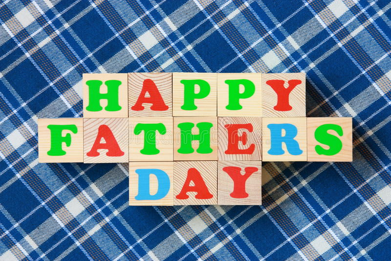 De Kaart van de Dag van vaders - de Foto van de Voorraad royalty-vrije stock foto's