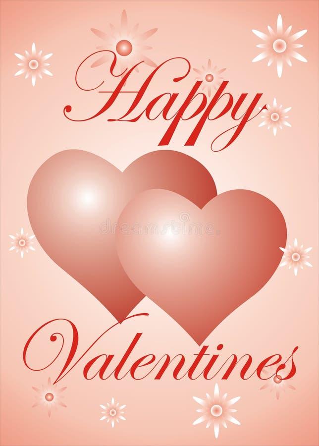 De kaart van de Dag van valentijnskaarten stock illustratie