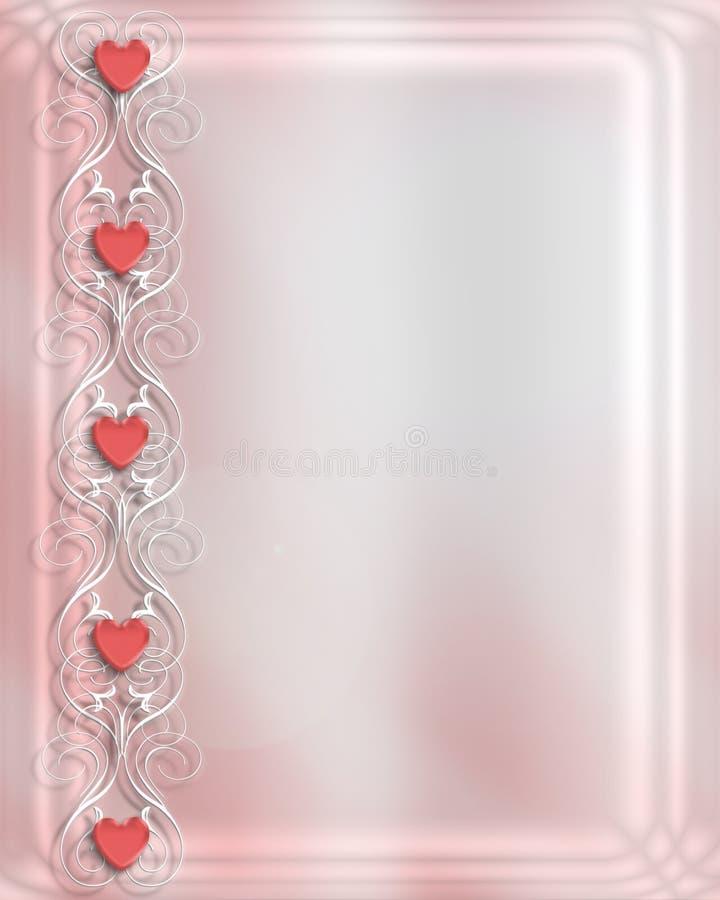 De Kaart van de Dag van valentijnskaarten    royalty-vrije illustratie