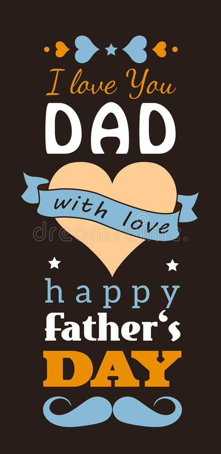De kaart van de de daggroet van de gelukkige vader vector illustratie