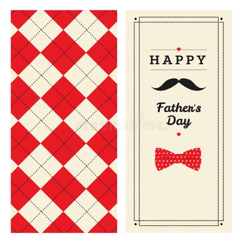 De kaart van de de daggroet van de gelukkige vader met patroon royalty-vrije illustratie