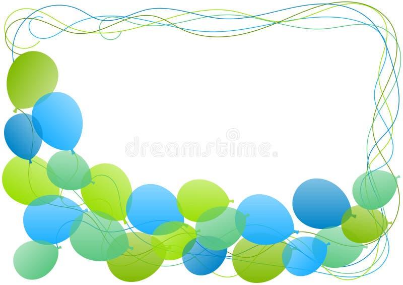De kaart van de de grensgroet van het ballonskader royalty-vrije illustratie