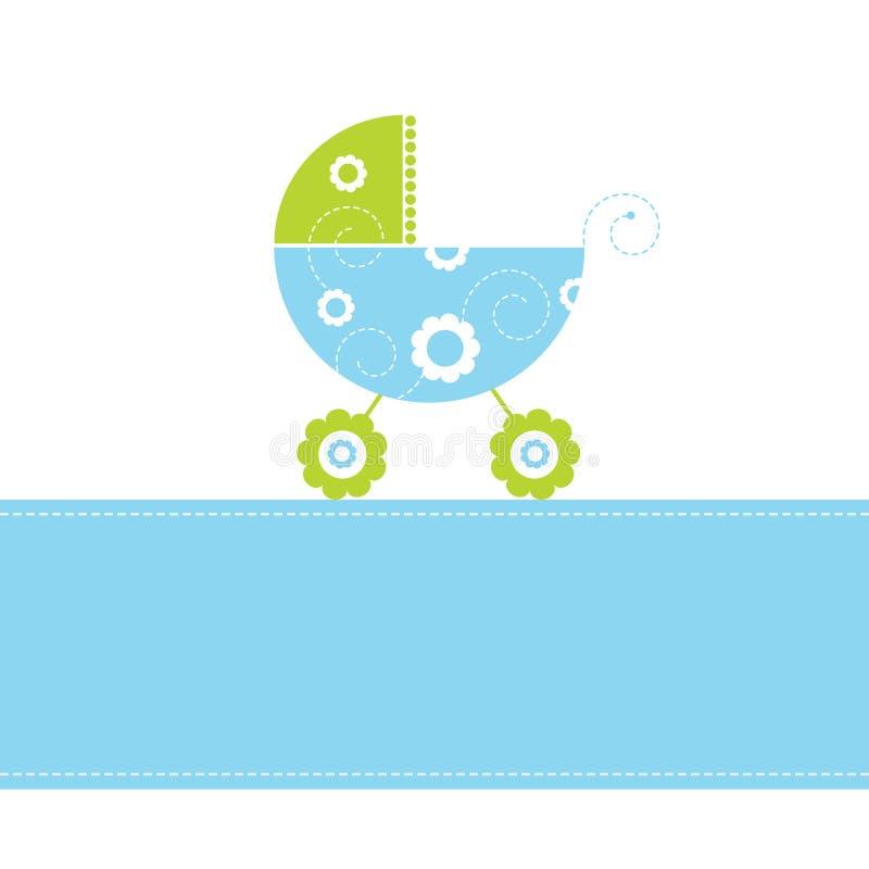 De kaart van de de jongensaankomst van de baby stock illustratie