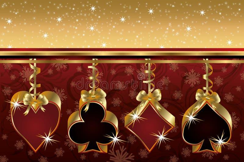 De kaart van de de pookgroet van Kerstmis royalty-vrije illustratie