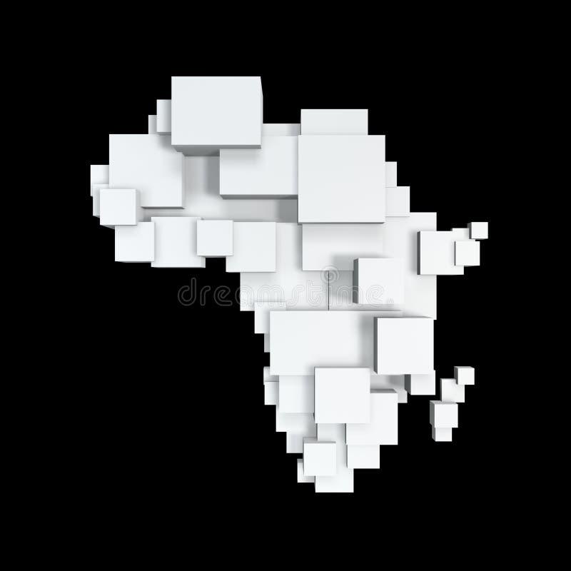 De kaart van de doos van Afrika