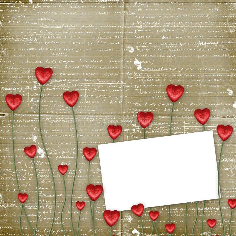 De Kaart van de groet aan St. de Dag van de Valentijnskaart royalty-vrije illustratie