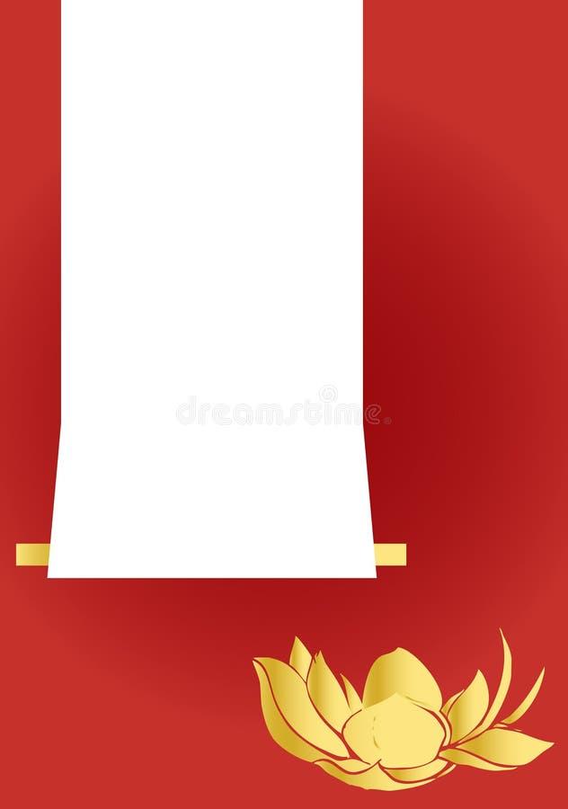 De kaart van de groet (achtergrond) royalty-vrije illustratie