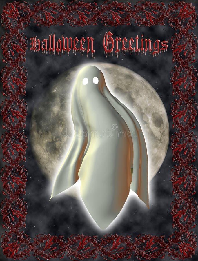 De Kaart van de groet - Halloween royalty-vrije illustratie