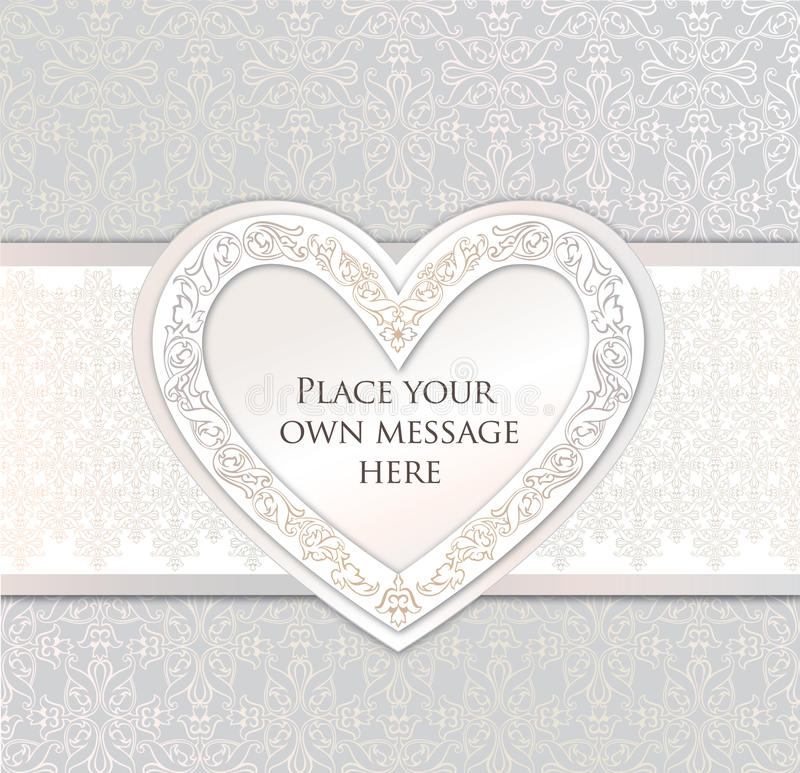 Download De Kaart Van De Groet. Het Kader Van Het Liefdehart Voor De Dag Of Het Wdding Van De Valentijnskaart Vector Illustratie - Illustratie bestaande uit ontwerp, viering: 29506419