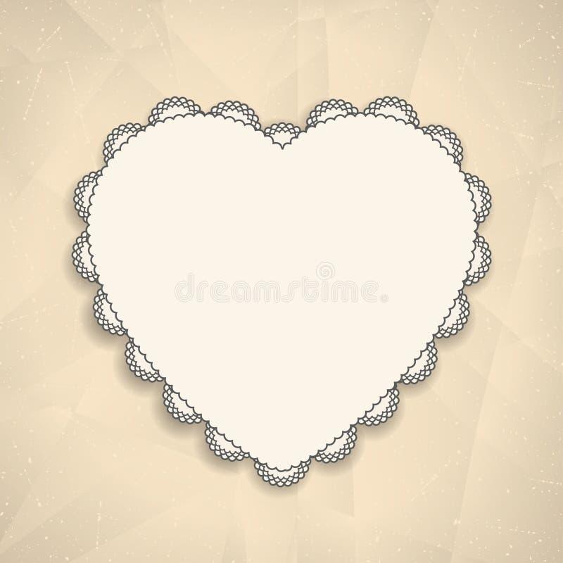 De Kaart van de Groet van de Dag van de valentijnskaart royalty-vrije illustratie