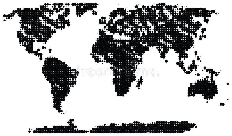 De kaart van de halftint royalty-vrije illustratie