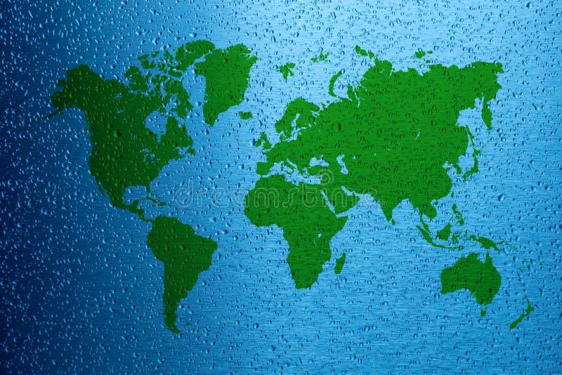 De kaart van de het conceptenwereld van de waterbesparing royalty-vrije stock foto