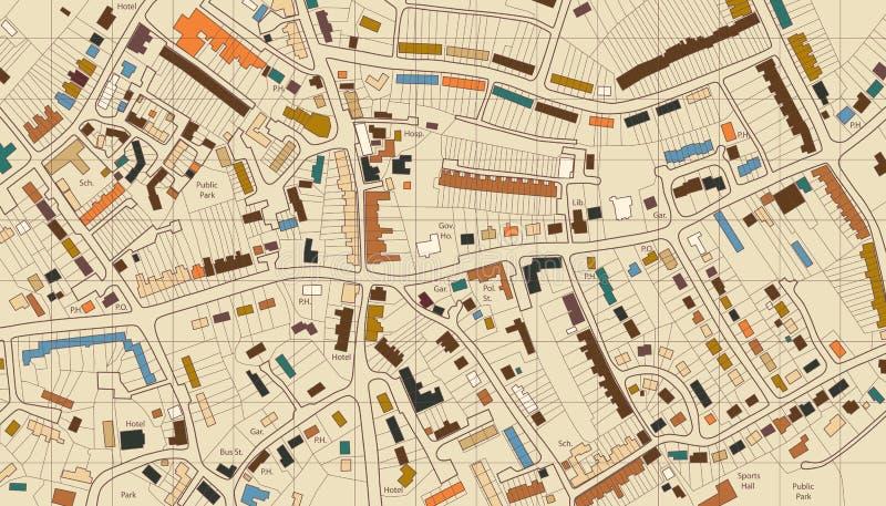 De kaart van de huisvesting vector illustratie