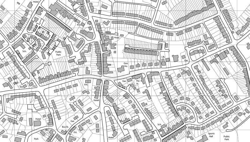De kaart van de huisvesting royalty-vrije illustratie