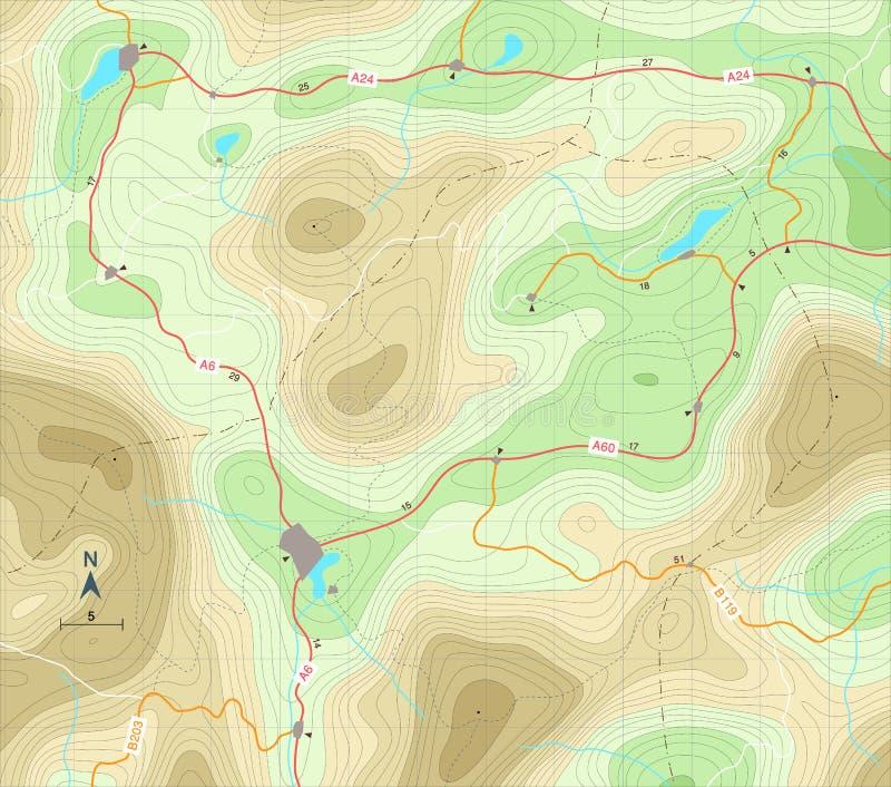 De kaart van de hulp vector illustratie