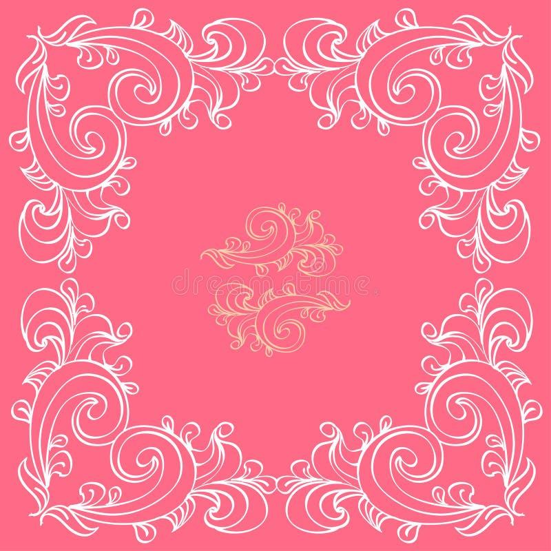 De kaart van de huwelijksuitnodiging royalty-vrije illustratie